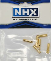NHX 4.0mm Gold Plated Bullet Adapter Connector Male / Female 3Pairs/Bag