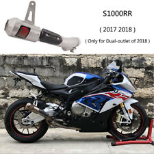 For 2017 2018 BMW S1000RR Motorcycle Exhaust Pipe Mid Muffler Slip On Catalyst
