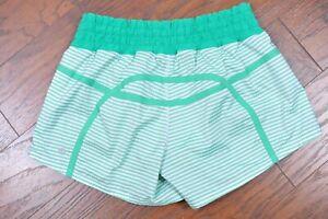 Lululemon Tracker Shorts Savage Stripe Green Women's 8