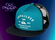 New Quiksilver Spellbinder Blue Mens Trucker Snapback Cap Hat