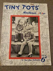 RARE NEW IDEA VINTAGE  TINY TOTS knitwear toddler KNITTING book PATTERNS 1-3 YRS