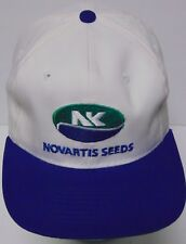 Vtg 1990s NORTHRUP KING NOVARTIS SEEDS NK FARM SEED ADVERTISING SNAPBACK HAT CAP