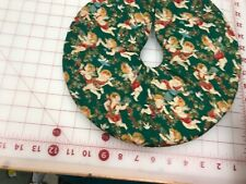 12� Green Cupids Angels Christmas Tree Skirt Table top size