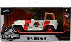 JEEP WRANGLER model car from JURASSIC WORLD Film 1992 1:32 JADA TOYS 32129