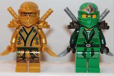 NEW LEGO NINJAGO NINJA Minifigures: GOLD NINJA & GREEN LLOYD ZX (Green) Minifigs