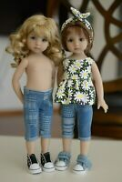 Denim Capris for Little Darling Dolls - 13in - Dianna Effner