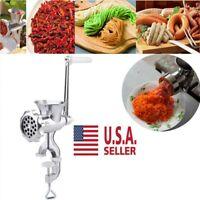 Meat Grinder Stuffer Mincer Hand Manual Sausage Filler Sauce Maker Machine USA