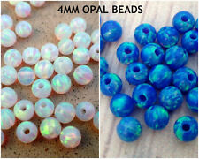 SALE 4MM Round Loose Mix Blue White Fire Opal Ball Beads Jewelry Making 12 pcs