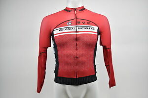 New Verge Colonial Bike Co Women's Primo Power L/S Cycling Jersey, Red/Blue, XS