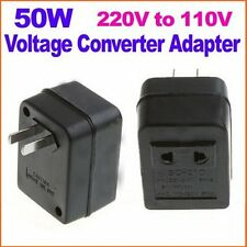 50W US AC Power Plug Converter Adapter AC 220V/240V to 110V/120V Transformer Hot