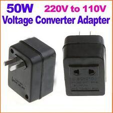 50W US AC Power Plug Converter Adapter AC 220V/240V to 110V/120V Transformer Hot