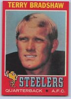 "1971 TERRY BRADSHAW - Topps  ""ROOKIE REPRINT"" Football Card #156 - PIT. STEELERS"