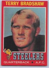 """1971 TERRY BRADSHAW - Topps  """"ROOKIE REPRINT"""" Football Card #156 - PIT. STEELERS"""