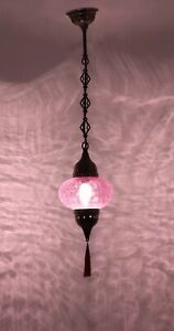 Amazing TURKISH LAMP, crackle glass hanging pendant chandelier pendant light