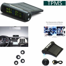 TPMS Wireless Tire Pressure Monitoring System , Solar/USB Charge Power 4 Sensors