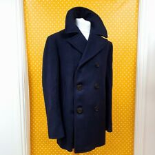 Vtg 1968 US Navy kersey Wool Enlisted Bridge Naval mariner Pea Coat Jacket 40R
