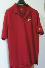 Under Armour Penn University Red Heat Gear Golf Polo Shirt L Large