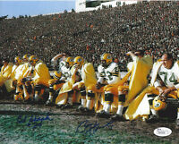 PACKERS Paul Hornung & Bob Skoronski signed 8x10 photo JSA COA AUTO Autographed
