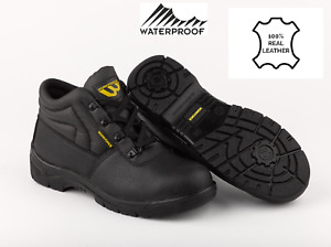 WOMENS MENS Leather Safety Boots Steel Toe Cap & Midsole. Anti Static. Bargain