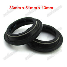 Mini Motocross 33mm x 51mm x 13mm Front Fork Seal Dust Cover Dirt Pit Trail Bike