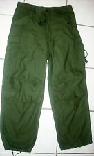 BDU COLD WEATHER OLIVE GREEN SATEEN MILITARY TROUSERS SHADE 107 WINFIELD MFG.-34