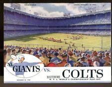 1958 NFL Championship Game Program Giants v Colts 12/28 Yankee Stadium Ex Nice