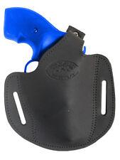 "New Barsony Black Leather Pancake Holster Rossi EAA Kimber 2"" Snub Nose Revolver"