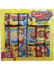 Guess Who? 6 Christmas Crackers Kids Flip n' Find Face Game NEW