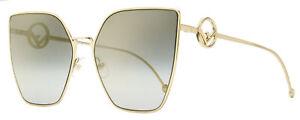 Fendi Square Sunglasses FF0323S FT3FQ Gold 63mm 323
