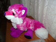"WILD REPUBLIC SOFT SILKY FUR  PINK FOX  PLUSH STUFFED TOY 19"" nose to tail tip"