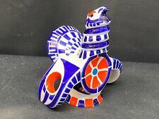 "Sargadelos "" TURKEY"" Figurine Cobalt Blue Orange & White Porcelain ~ 5 1/2"" Tall"
