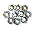 203000112 5mm M5 Smoke Chrome Alloy Aluminium Nylon Lock Nuts x 10
