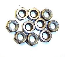 203000112 5mm M5 Fumée Chrome Alliage Aluminium Nylon Écrous de Serrage x 10
