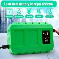 12V 20A Lead Acid Battery Charger Intelligent Pulse Repair For Car Motorcycle