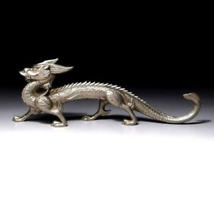 $EG56: Vintage Japanese Copper Figurine, Dragon, 13.4 inches