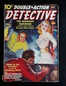 Double-Action Detective Pulp Magazine 1/ 1939 Spicy Nude Cover Art