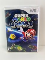 Super Mario Galaxy (Nintendo Wii, 2007) Complete, CIB, Tested - Free Shipping