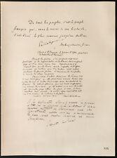 1926 - Lithographie citations de Paléologue, Peretti della Rocca, de St-Aulaire
