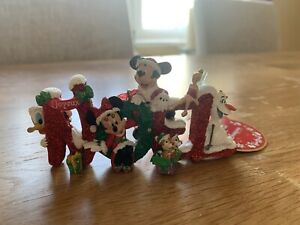 Never Used Noel Mickey Mouse Characters Scene Christmas Tree Ornament
