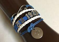 Zeta Phi Beta Infinity Bracelet Z Phi B Blue And White 1920 Rhinestones