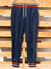 Men's Mossimo Navy Blue Stripe Drawstring Waist Polyester Joggers Sweat Pants S