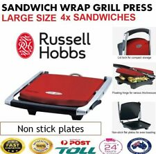 BIG 4x Sandwich Jaffle Press Maker Hot Toasted Toaster Large Toastie Gril Press