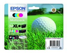 Epson 34xl K 34 CMY Golf Ball Ink Cartridge C13T34794010 Wf-3725dwf 3720 WF