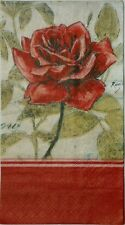 ROSE RED RUBY 2 single HOSTESS paper napkins for decoupage 3-ply Cypress Home