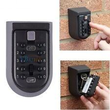 Outdoor Key Safe Box Combination Security Keys Holder Lock Wall Mounted Car Home