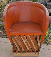 Mexican Equipale Standard Leather Chair - Brick 005