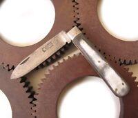 Antique Pocket Knife horn handle COLLAS couteau pliant manche en corne bovine