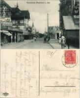 Ansichtskarte Westerland-Gemeinde Sylt Straßenpartie, Geschäfte 1919