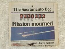 """""""Mission Mourned"""" - Shuttle Disaster - The Sacramento Bee - Feb 2, 2003"""