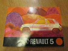 ancien livret catalogue renault 5 conduite et entretien automobile